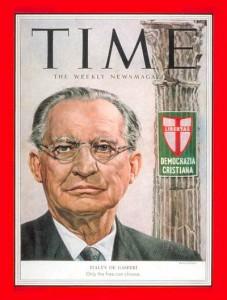 La copertina del Time, dedicata a De Gasperi