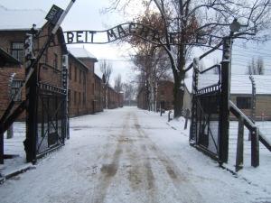L'ingresso del campo di concentramento diAuschwitz