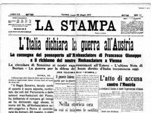 24 maggio 1915: l'Italia entra in Guerra
